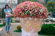 Самый большой свадебный букет