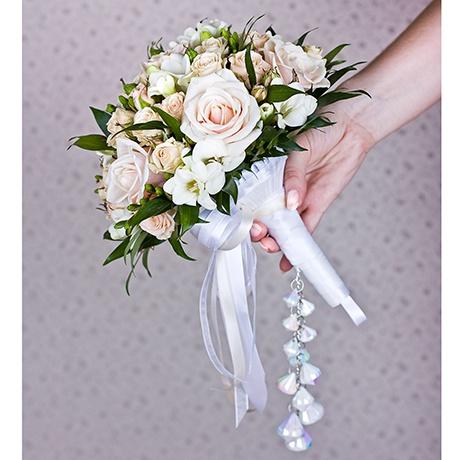 Свадебные букеты из свежих цветов с
